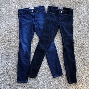 Abercrombie & Fitch Girl's Jean Legging Button Zip